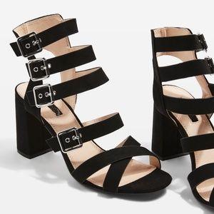 b4fb12e8283a Topshop Shoes - Topshop Nova Multi Buckle Sandals blk 38 NEW